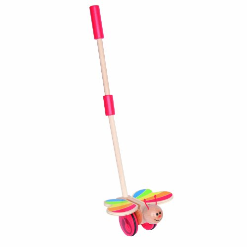 Award Winning Hape Butterfly Wooden Push and Pull Walking Toy
