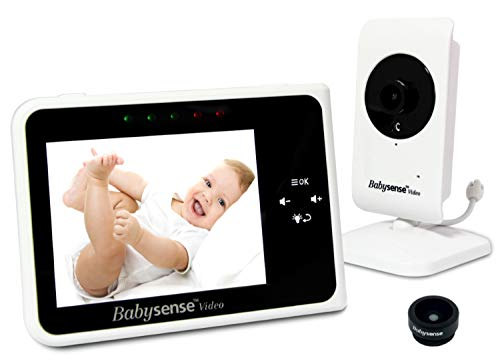 Babysense Video Baby Monitor 3.5 Inch Screen - Wide Angle Lens...