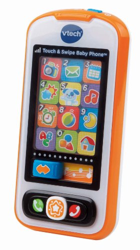 VTech Touch and Swipe Baby Phone, Orange