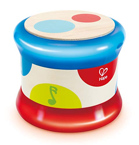 Hape Baby Drum | Colorful Rolling Drum Musical Instrument Toy for...