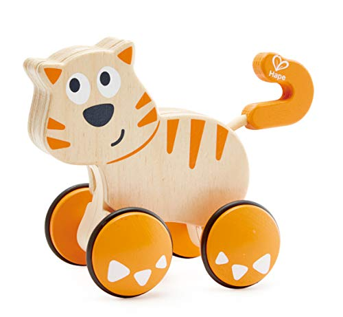 Hape Dante Push and Go |  Wooden Push, Release & Go Cat Toddler Toy...