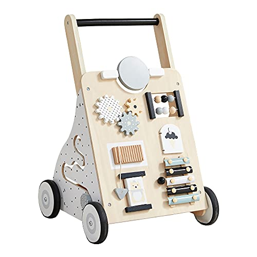 Asweets Wooden Baby Walker Push and Pull Learning Activity Walker for...