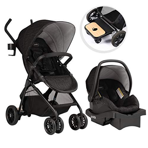 Evenflo Sibby Travel System, Stroller, Car Seat, Ride-Along Board,...