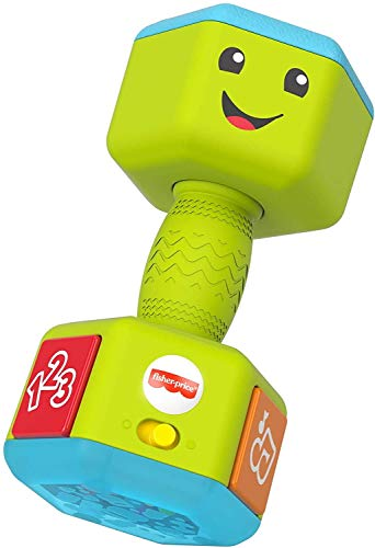 Fisher-Price Laugh & Learn Countin' Reps Dumbbell rattle toy with...