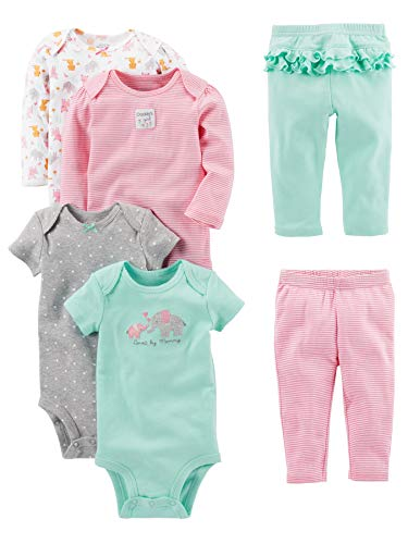 Simple Joys by Carter's Baby Girls' 6-Piece Little Character Set,...