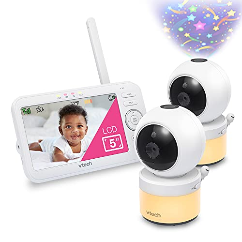 VTech VM5463-2 Video Baby Monitor with 5' Screen, Pan Tilt Zoom, Sound...