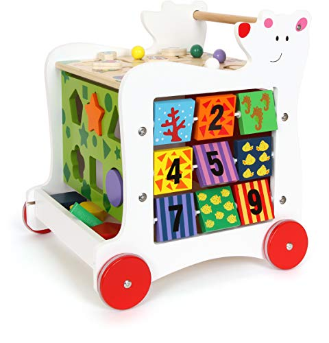 small foot wooden toys Wooden Baby Bear Walker, 5-Sided Fun Promotes...