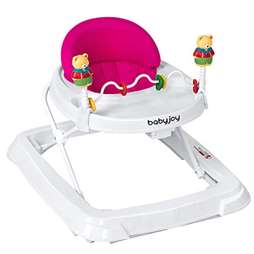 BABY JOY Baby Walker, Foldable Activity Walker Helper with Adjustable...