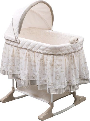 Delta Children Rocking Bedside Bassinet - Portable Crib with Lights...