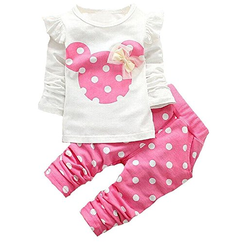 Baby Girl Clothes Infant Outfits Set 2 Pieces Long Sleeved Tops +...