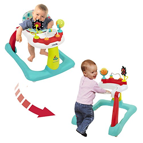 Kolcraft Tiny Steps 2-in-1 Infant & Baby Activity Walker - Seated or...
