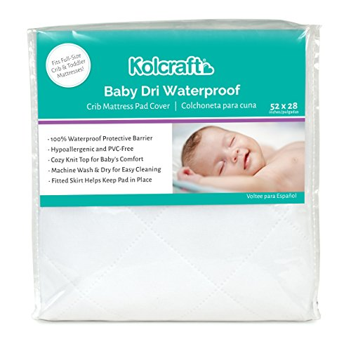 Kolcraft Baby Dri Waterproof Fitted Toddler & Baby Crib Mattress Pad...