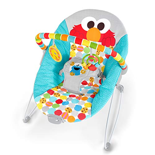 Bright Starts Sesame Street I Spot Elmo! Vibrating Bouncer with Toy...
