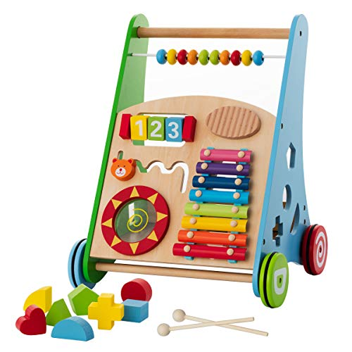 Baby Toys – Kids' Activity Toy – Wooden Push and Pull Learning...