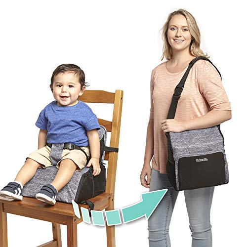 Kolcraft Travel Duo 2-in-1 Portable Booster Seat and Diaper Bag, Space...