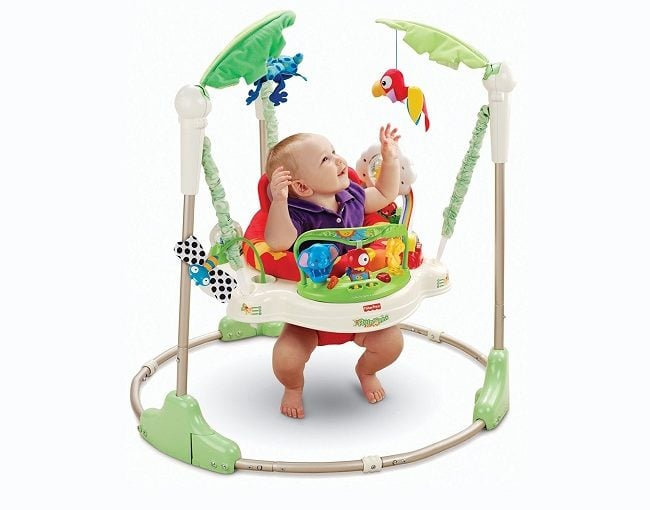 5dbf01a88e64 Fisher Price Roarin Rainforest Jumperoo for Fun- n- Learn