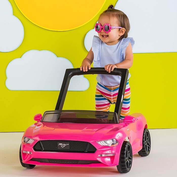 Bright Starts 3 Ways to Play Walker Ford Mustang Pink
