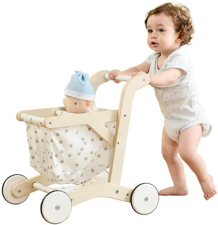 Push walker for a baby