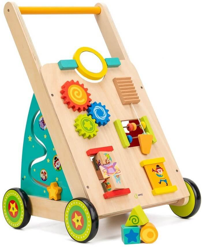 cossy Wooden Baby Learning Walker Toddler Toys